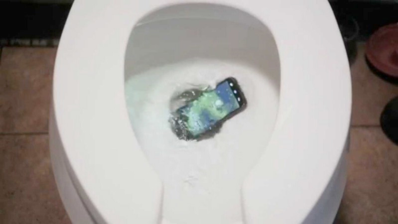 Phone in the bowl